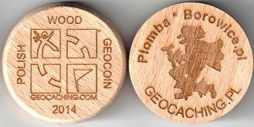 Polish Wood Geocoin