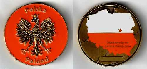 Polska Poland Geocoin